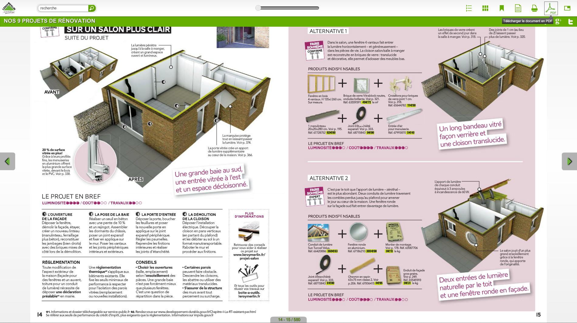 Un exemple d'une page du nouveau catalogue Leroy Merlin qui mêle astucieusement du conseil pratique et de la mise en avant produit. ©Leroy Merlin