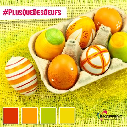 [ #ExaCouleur ] Pâques est arrivé avec son cortège de petits oeufs. #LeSaviezVous que dans le Kalevala, livre de la grande tradition finlandaise, le monde est né de l'œuf ? Ou que des œufs d'autruche décorés datant de 60 000 ans ont été découverts en Afrique australe ?