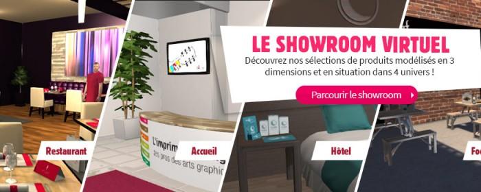 Nouvelle vitrine en ligne : le Showroom Virtuel en 3D d'Exaprint