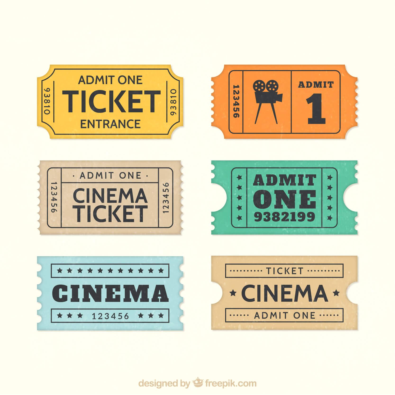 6 tickets de cinema