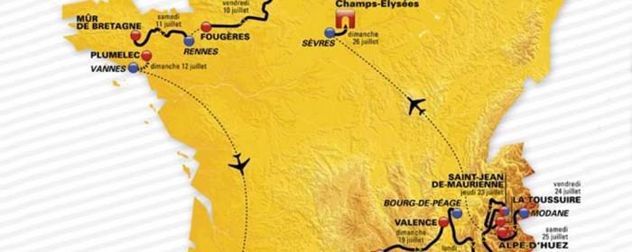 Suivez les étapes du 102ème Tour de France et anticipez les éventuelles perturbations de transport