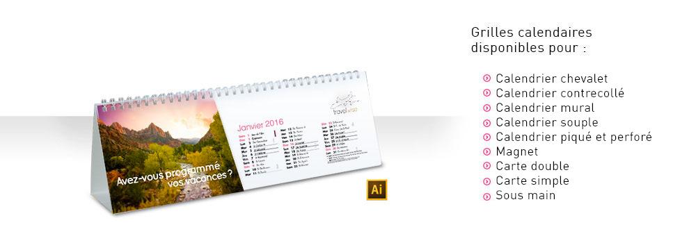 Les modèles de calendriers 2016 sont disponibles !