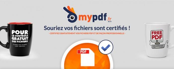 Mypdf.fr : le 1er service en ligne de normalisation de PDF pour l'impression