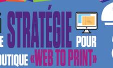 """[ #ExaInfographie ] Quelle strategie choisir pour votre site """"Web to Print"""" ? #Infographie"""
