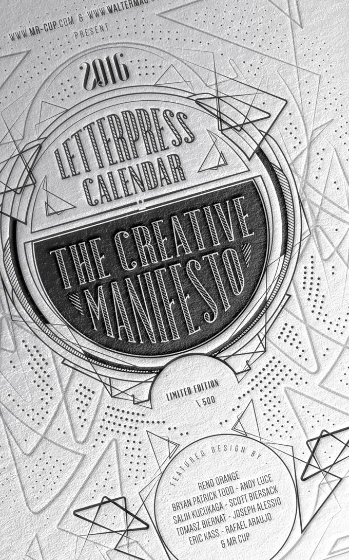 Inspiration : un calendrier letterpress soutenu sur kickstarter