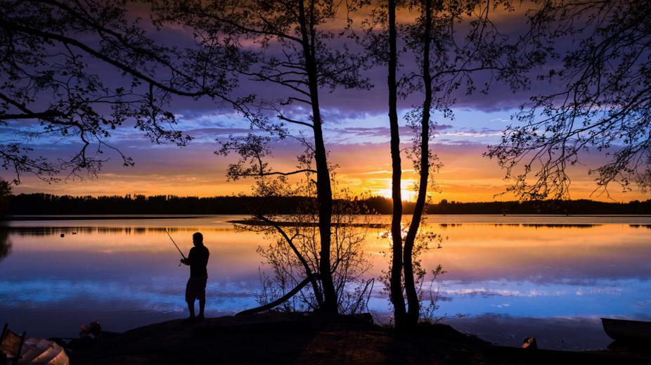 photo lac coucher de soleil flickr