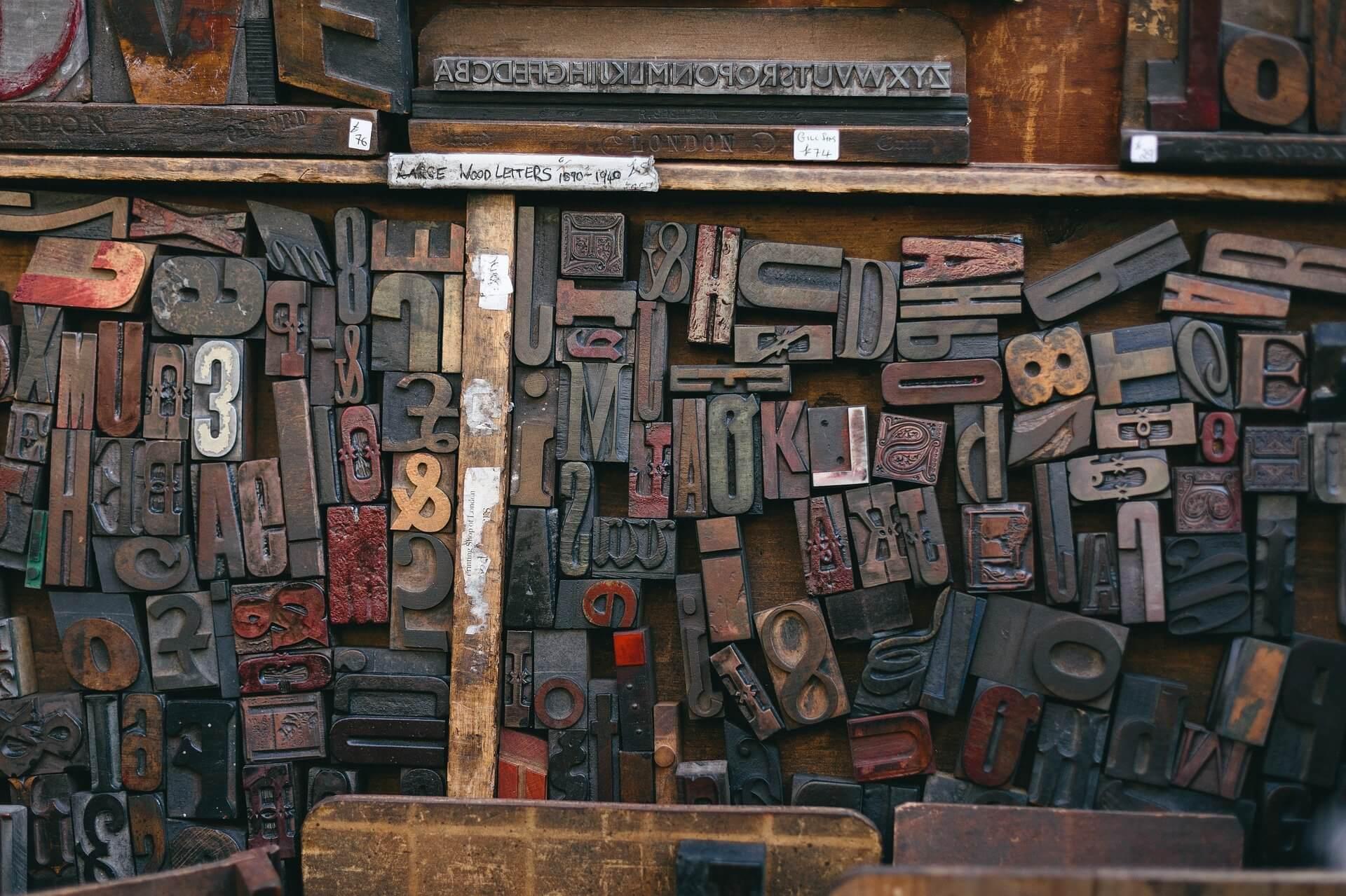 lettres imprimante typographie