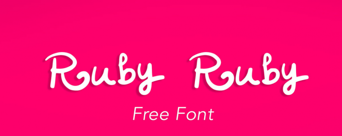 Typographie : Ruby Ruby