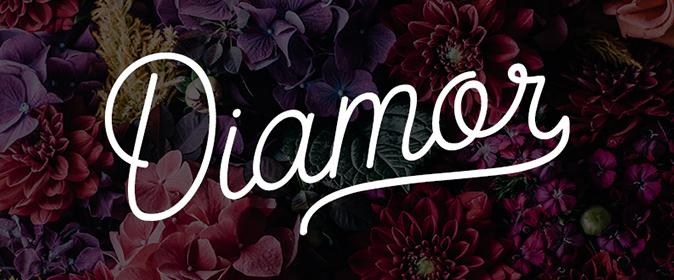 Typographie monoline : Diamor