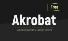 Typographie condensée : Akrobat