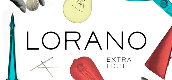 Typographie extralight : Lorano