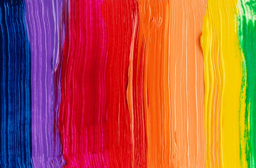 peinture couleurs arc-en-ciel