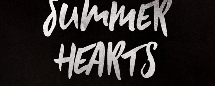 Typographie à la brosse : Summer hearts