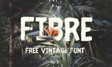 Typographie vintage : Fibre