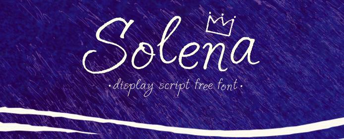 Typographie à la main : Solena