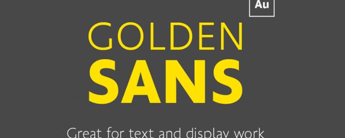 Typographie sans empattement Golden Sans