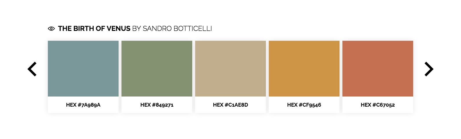 Color Lisa l'outil pour connaître les compositions couleur des oeuvres d'art les plus connues