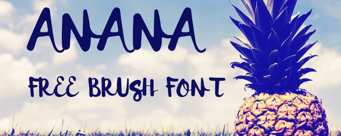Anana : typographie gratuite à la brosse