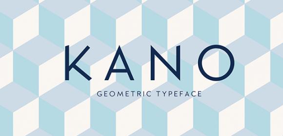 Kano : Typographie géométrique et gratuite