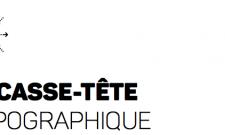 casse tête typographique