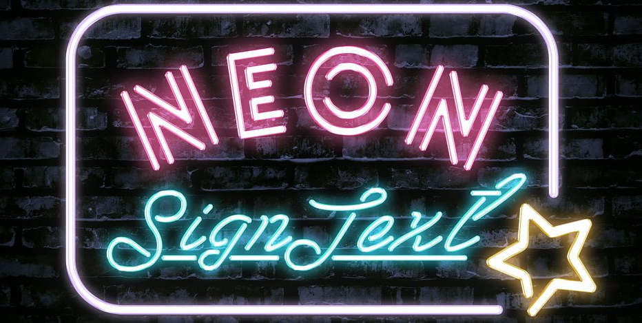 free neon text effect