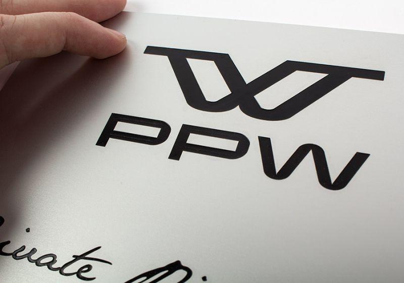 Plaque professionnelle aluminium