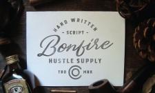 bonfire typographie