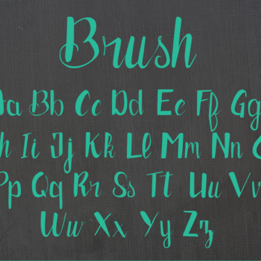 brush typo gratuite 4 Exaprint
