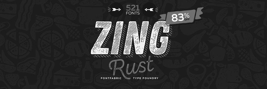zing typographie gratuite exaprint