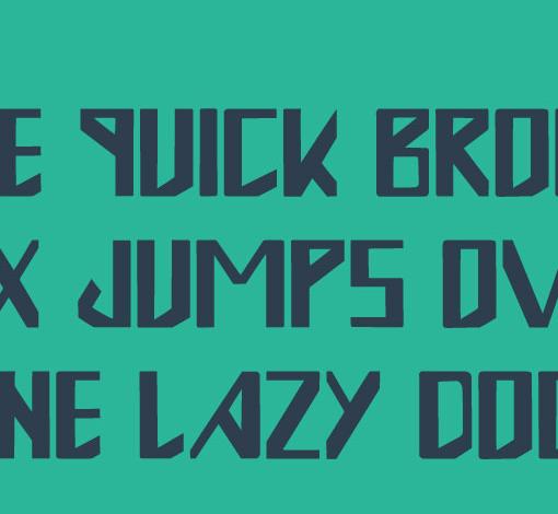typographie gratuite ONE 4