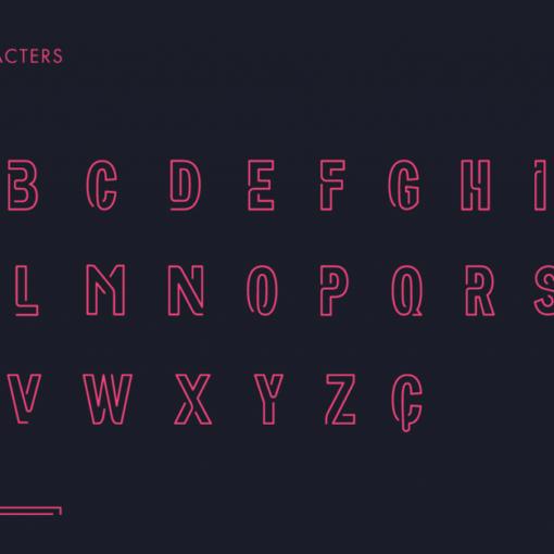 neoneon typographie gratuite 1
