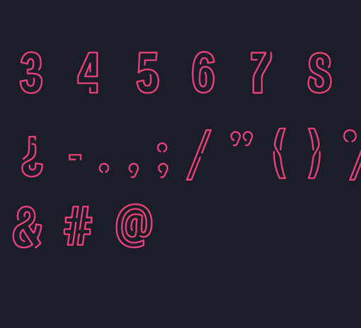 neoneon typographie gratuite 2
