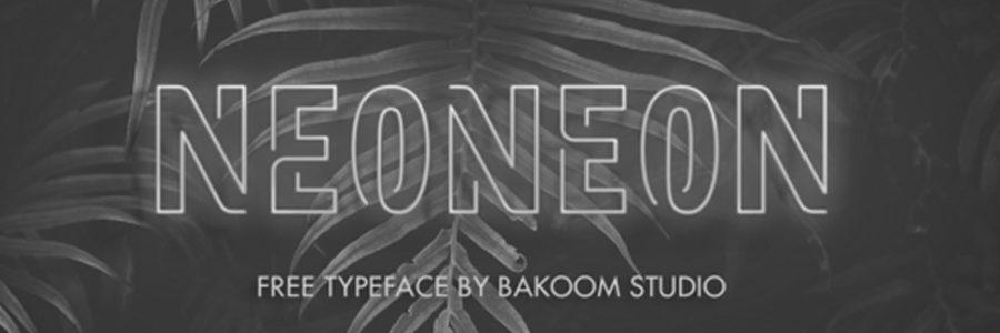 neoneon typographie gratuite 7