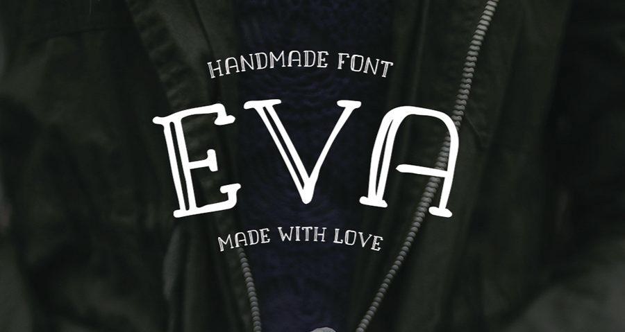Typographie eva