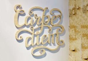 lettre et logo bois