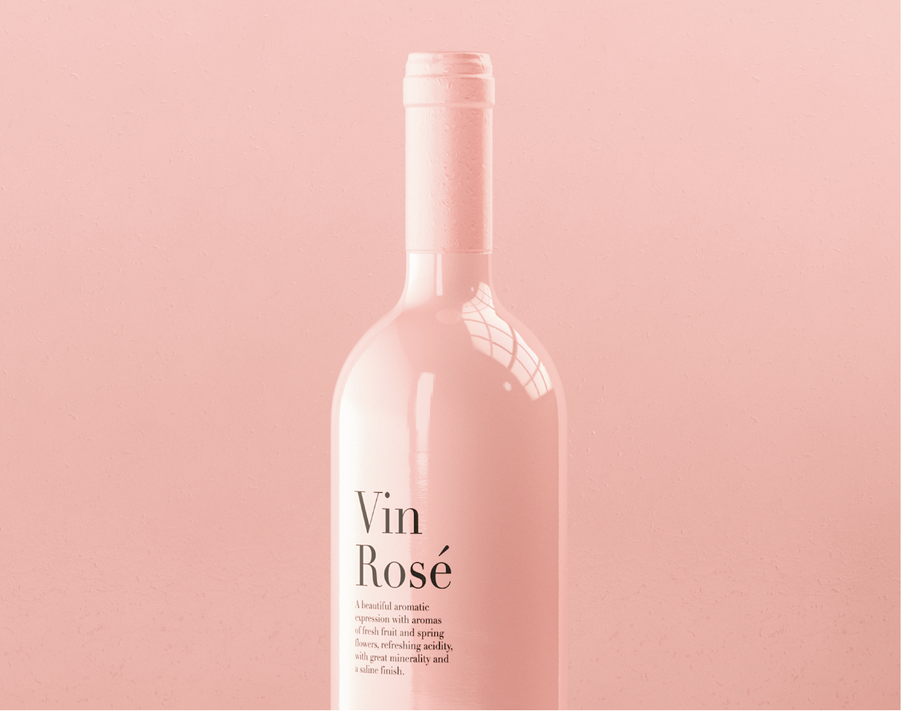 Packaging vin rosé rose
