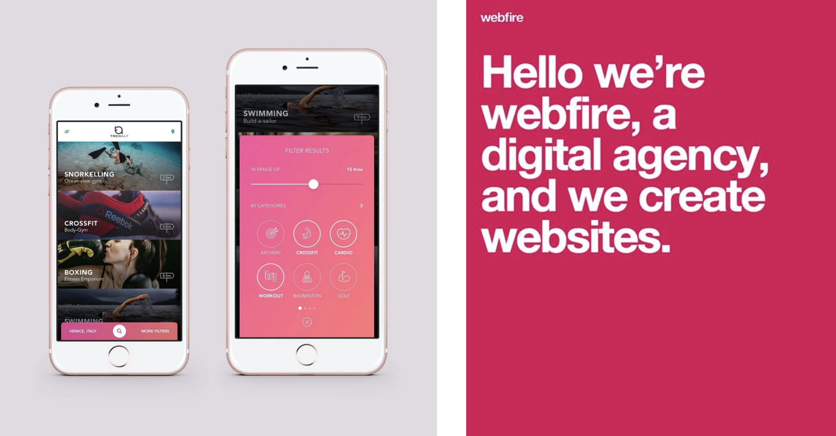 Webdesign iphone rose