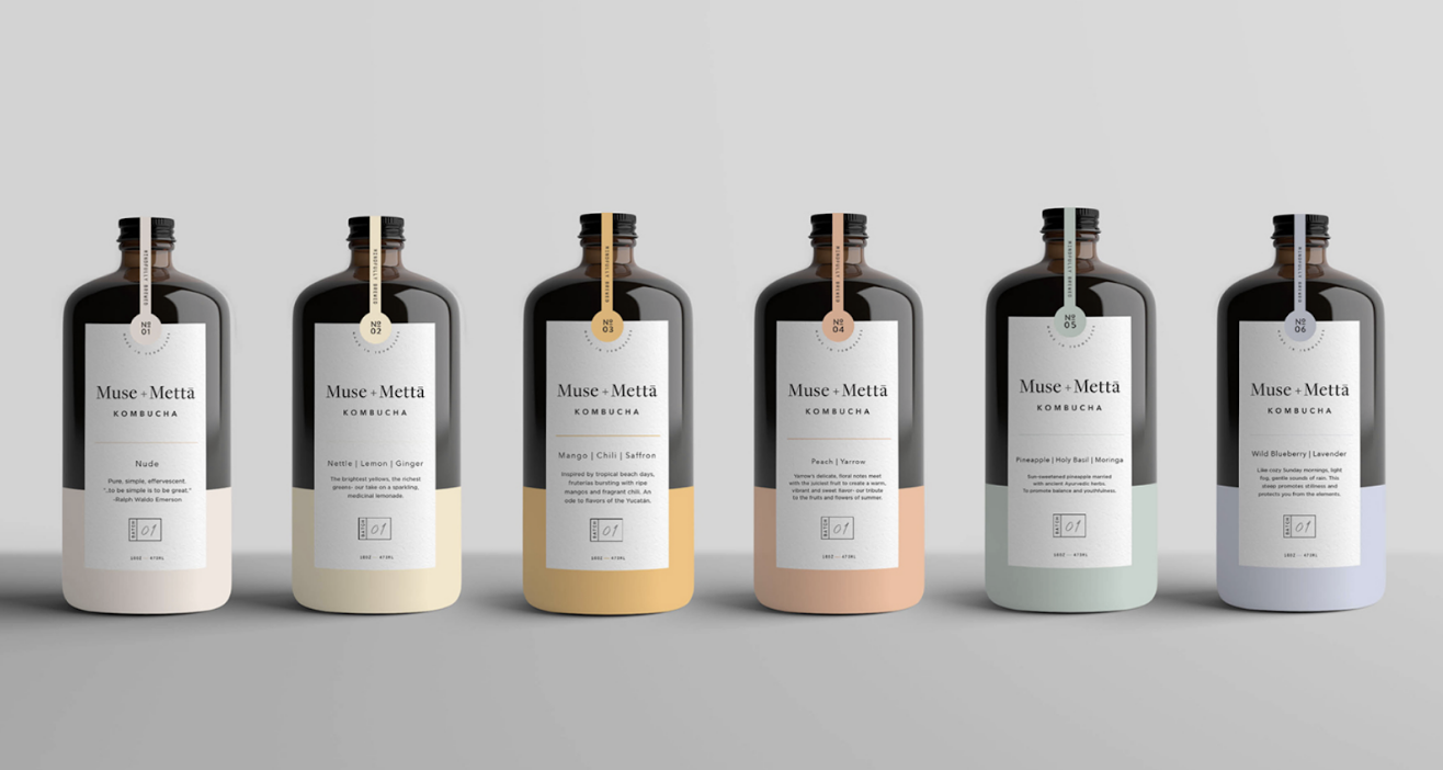 Packaging couleur pastel