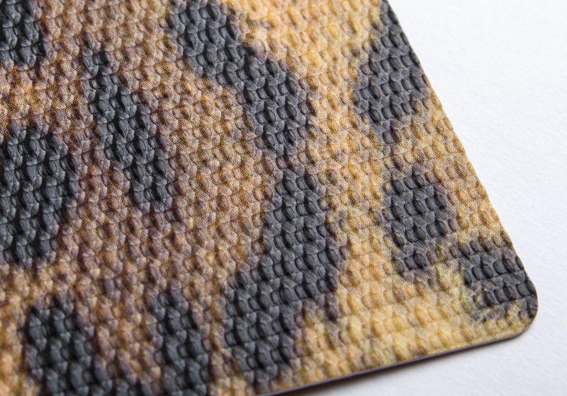 carte PVC texturé tissé