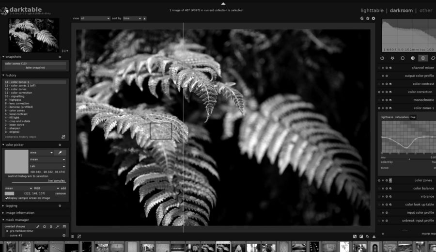Photo Logiciel Darktable