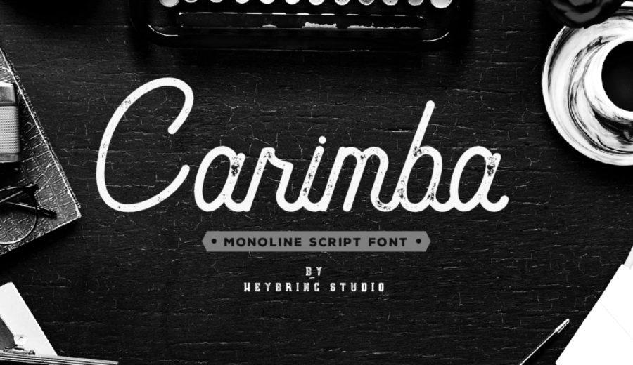Typographie gratuite Carimba