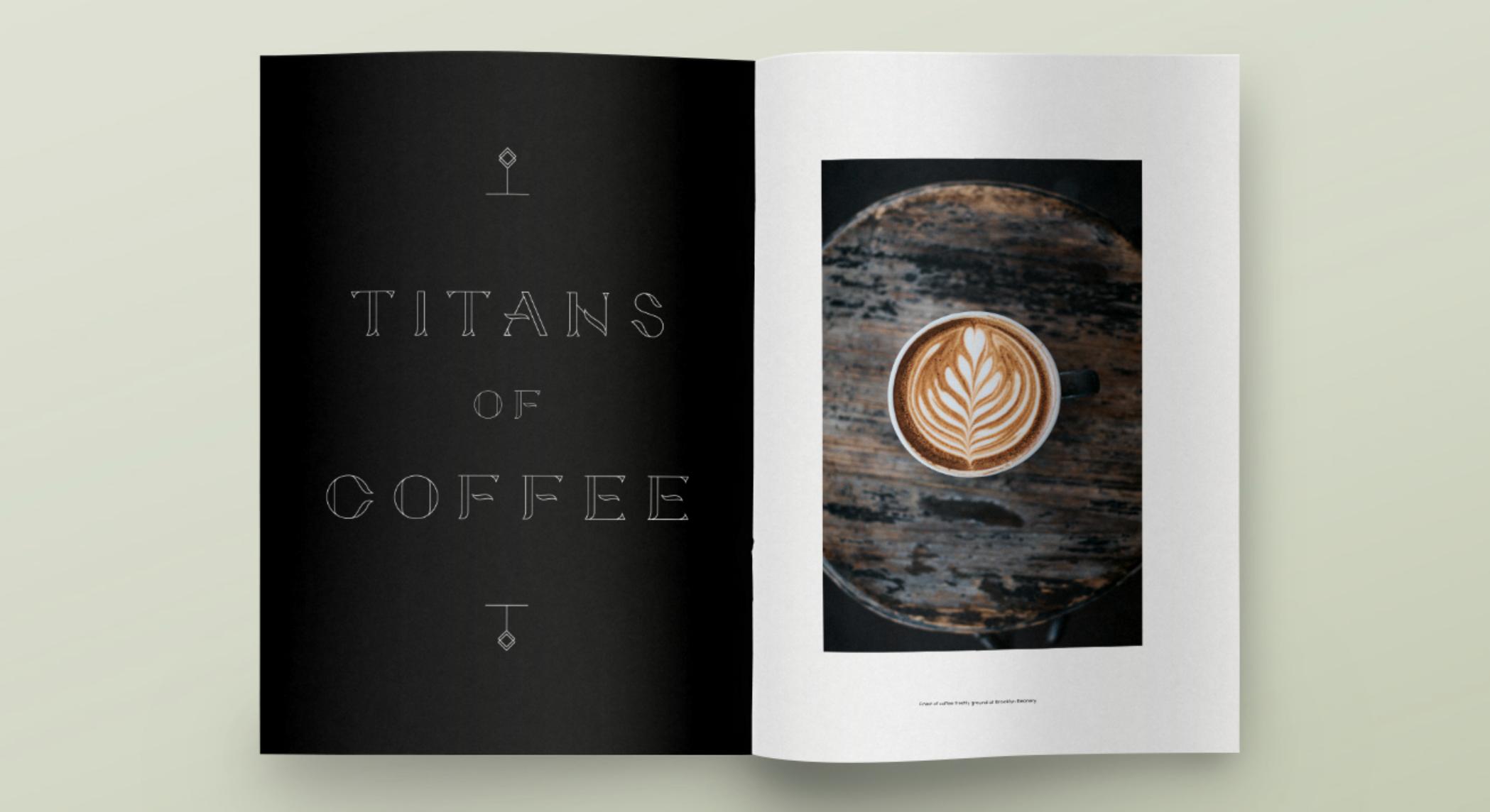 Typographie gratuite coco exemple brochure