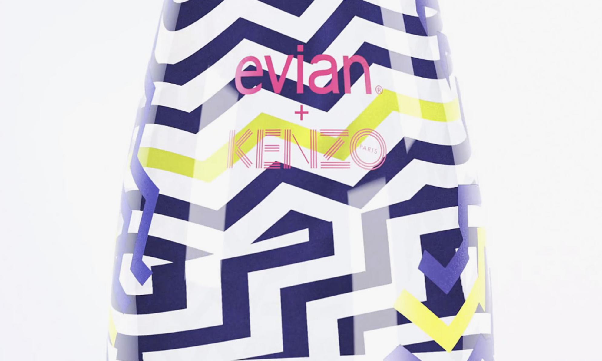 Design bouteille Évian par Kenzo