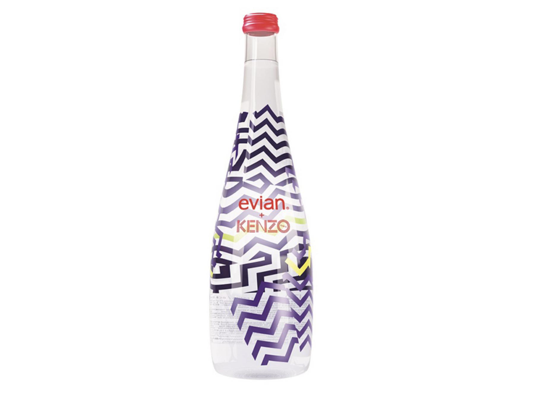 Bouteille Evian design par Kenzo
