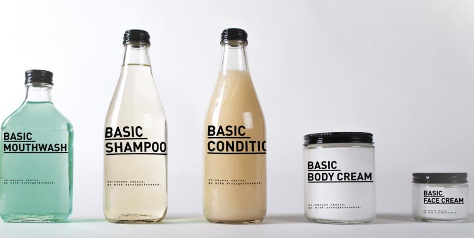 Design épuré produits hygiène