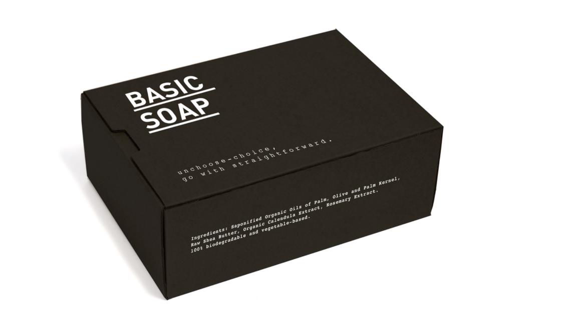 Design produits basiques savon