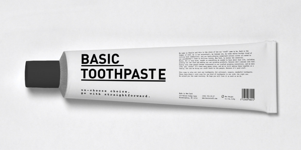 Dentifrice basic design
