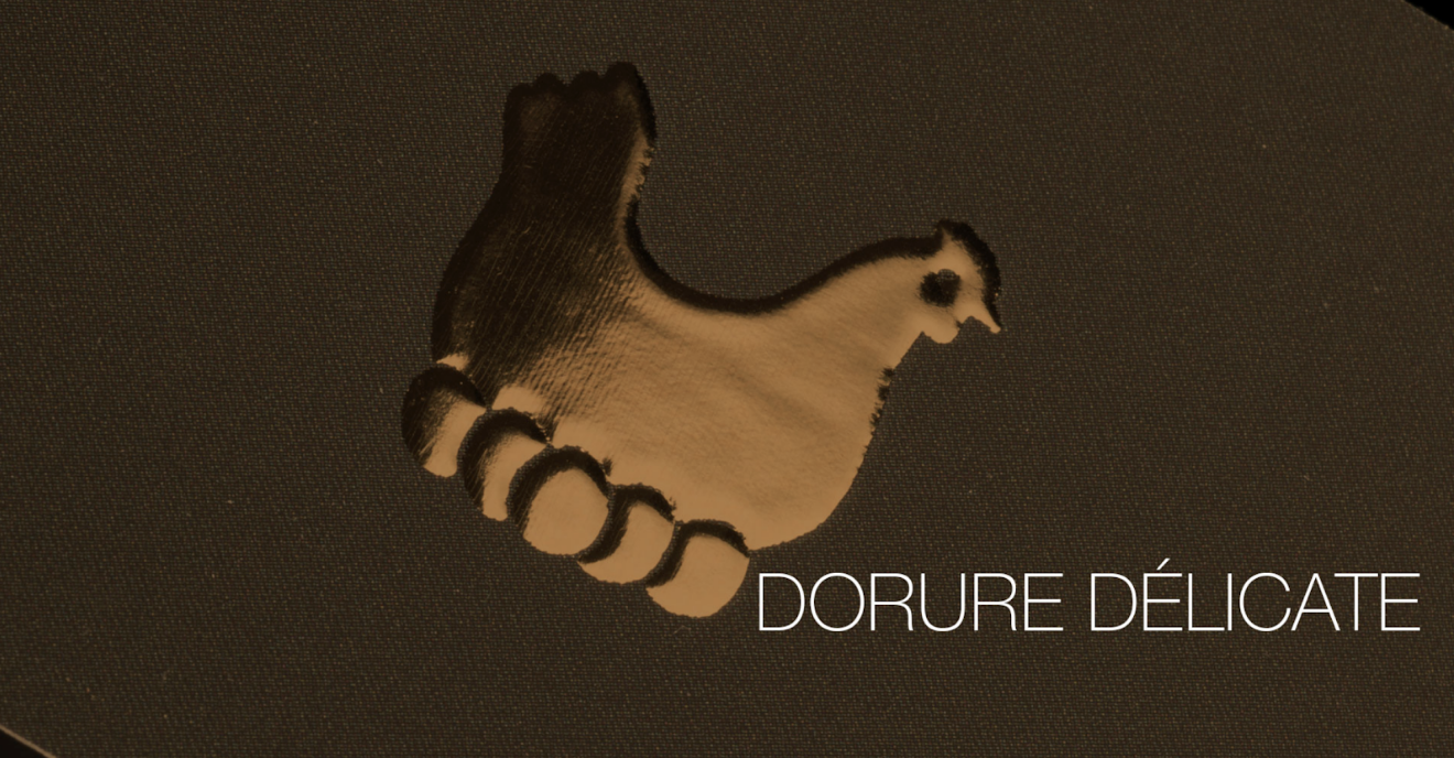 carte de visite dorure or