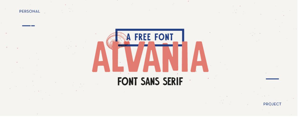 Typographie gratuite Alvania