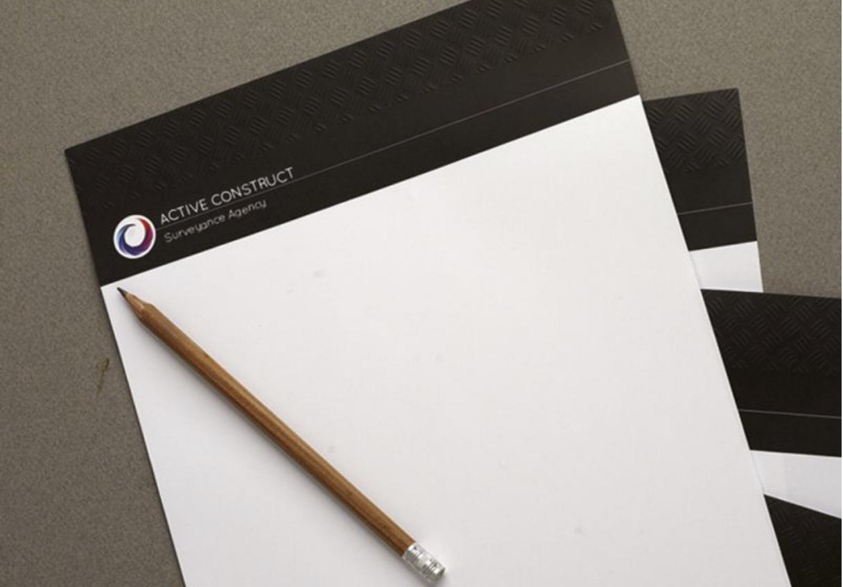 Papier tête de lettre logo